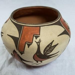 Polychrome Olla with Traditional Zia Pueblo Design