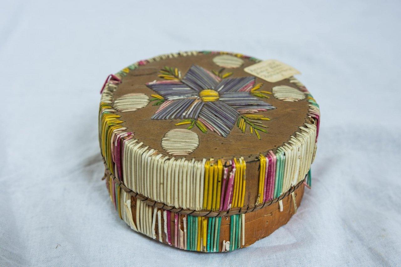 Potawatomi Porcupine Quill Box, c 1930s